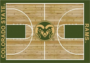 Colorado State Rams Home Court Area Rug