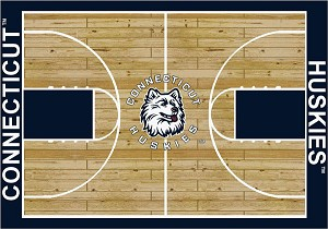 Connecticut Huskies Home Court Area Rug