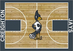 Creighton Bluejays Home Court Area Rug