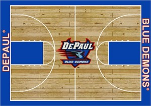 DePaul Blue Demons Home Court Area Rug