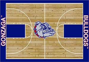 Gonzaga Bulldogs Home Court Area Rug