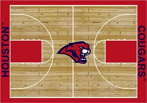 Houston Cougars Home Court Area Rug