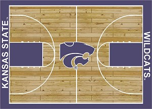 Kansas State Wildcats Home Court Area Rug
