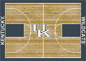 Kentucky Wildcats Home Court Area Rug