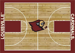 Louisville Cardinals Home Court Area Rug