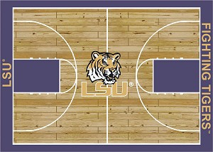 Louisiana State Tigers Home Court Area Rug