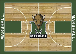Marshall Thundering Herd Home Court Area Rug