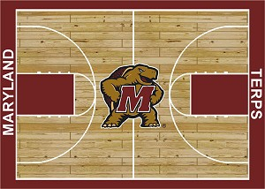 Maryland Terrapins Home Court Area Rug