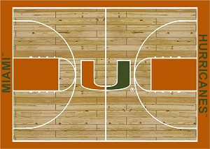 Miami Hurricanes Home Court Area Rug