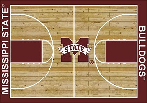 Mississippi State Bulldogs Home Court Area Rug