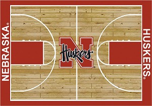 Nebraska Cornhuskers Home Court Area Rug