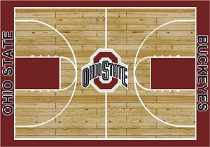 Ohio State Buckeyes Home Court Area Rug