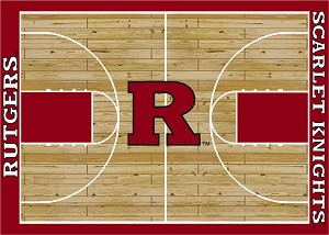 Rutgers Scarlet Knights Home Court Area Rug