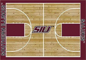 Southern Illinois Salukis Home Court Area Rug