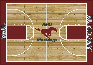 Southern Methodist Mustangs Home Court Area Rug