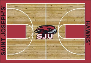 St Joseph's Hawks Home Court Area Rug