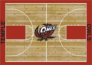 Temple Owls Home Court Area Rug