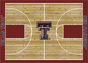 Texas Tech Red Raiders Home Court Area Rug