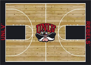 UNLV Runnin' Rebels Home Court Area Rug