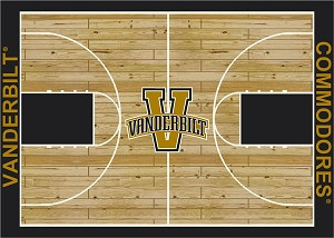 Vanderbilt Commodores Home Court Area Rug