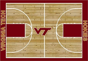Virginia Tech Hokies Home Court Area Rug