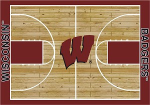 Wisconsin Badgers Home Court Area Rug