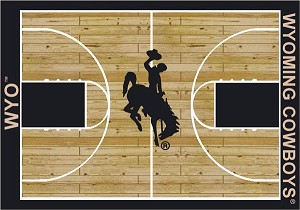 Wyoming Cowboys Home Court Area Rug