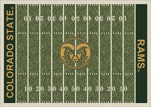 Colorado State Rams Home Field Area Rug