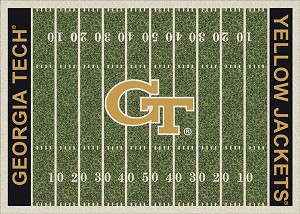 Georgia Tech Yellow Jackets Home Field Area Rug