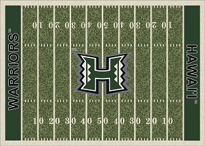 Hawaii Warriors Home Field Area Rug