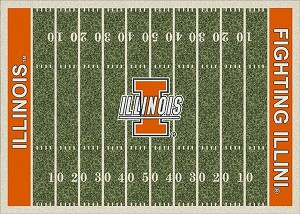 Illinois Fighting Illini Home Field Area Rug