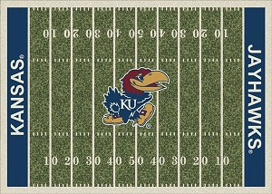 Kansas Jayhawks Home Field Area Rug