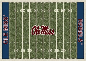 Ole Miss Rebels Home Field Area Rug