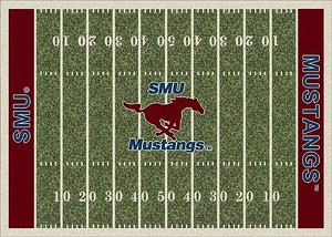 Southern Methodist Mustangs Home Field Area Rug