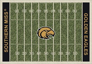 Southern Mississippi Golden Eagles Home Field Area Rug