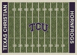Texas Christian University Horned Frogs Home Field Area Rug