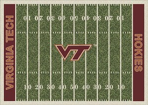 Virginia Tech Hokies Home Field Area Rug
