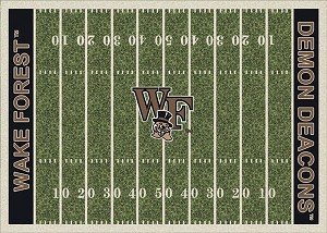 Wake Forest Demon Deacons Home Field Area Rug