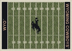 Wyoming Cowboys Home Field Area Rug