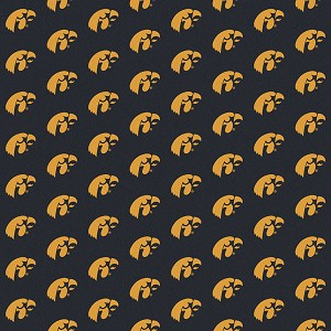 Iowa Hawkeyes Repeat Logo Area Rug