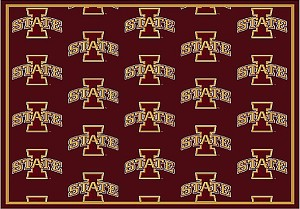 Iowa State Cyclones Repeat Logo Area Rug