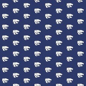 Kansas State Wildcats Repeat Logo Area Rug