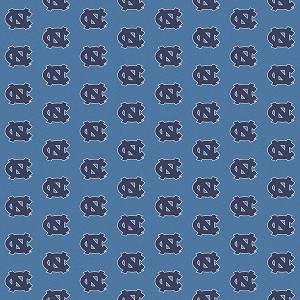 North Carolina Tar Heels Repeat Logo Area Rug