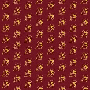 USC Trojans Repeat Logo Area Rug