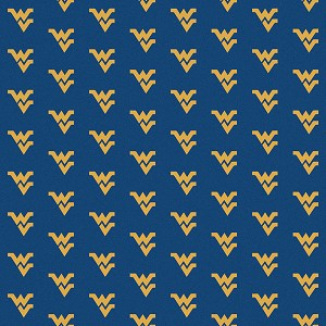 West Virginia Mountaineers Repeat Logo Area Rug