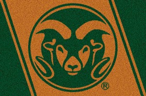 Colorado State Rams Team Logo Area Rug