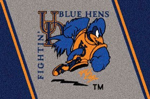 Delaware Fightin' Blue Hens Team Logo Area Rug