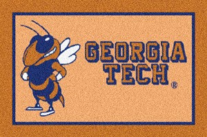 Georgia Tech Yellow Jackets Alternate Team Logo Area Rug