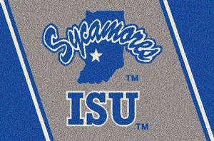 Indiana State Sycamores Team Logo Area Rug