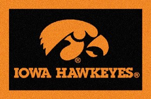 Iowa Hawkeyes Team Logo Area Rug